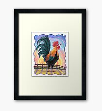 Animal Parade Rooster Framed Print