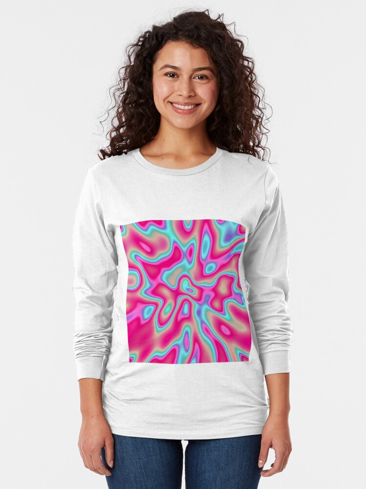 Alternate view of Abstract random colors #4 Long Sleeve T-Shirt