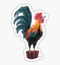 Rooster Silhouette Sticker