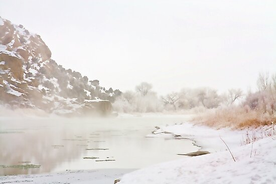Winter River Mist by Kim Barton