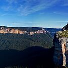 Blue Mountain Canyon Abyss Panorama by James Cole