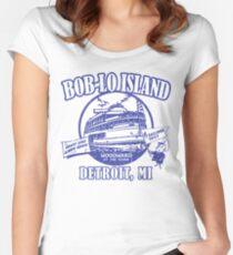 Boblo Island, Detroit MI (vintage distressed look) Women's Fitted Scoop T-Shirt