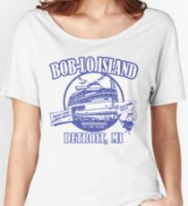 Boblo Island, Detroit MI (vintage distressed look) Women's Relaxed Fit T-Shirt