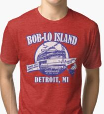 Boblo Island, Detroit MI (vintage distressed look) Tri-blend T-Shirt