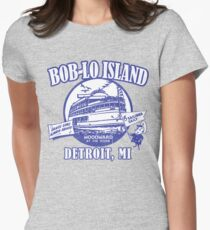 Boblo Island, Detroit MI (vintage distressed look) Womens Fitted T-Shirt