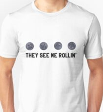 They See Me Rollin' Black Moon Emoji Trendy/Hipster/Tumblr Meme Unisex T-Shirt