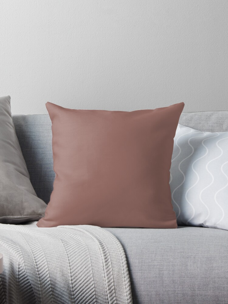 SOLID| PLAIN DARK CHESTNUT | PINK HUE by ozcushions