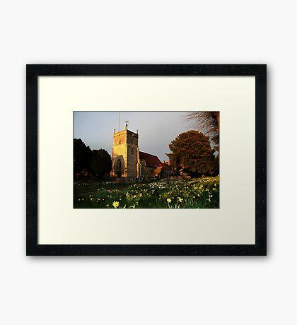 St Mary's Church Bucklebury Framed Print