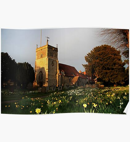 St Mary's Church Bucklebury Poster