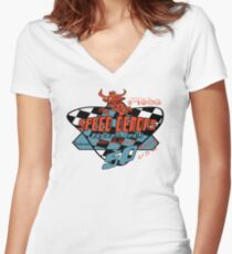 usa chicago tshirt by rogers bros co Women's Fitted V-Neck T-Shirt