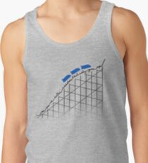 I'm On a Roller Coaster That Only Goes Up (Blue Cars) Tank Top