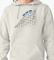I'm On a Roller Coaster That Only Goes Up (Blue Cars) Pullover Hoodie