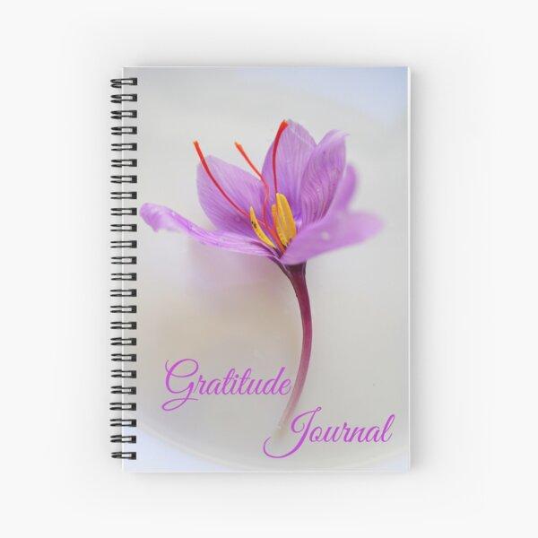 Gratitude Journal - Lavender Saffron Flower Spiral Notebook
