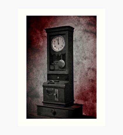 The Old Clock Art Print