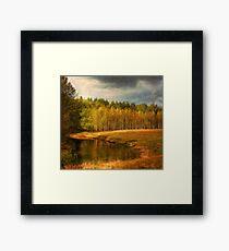 Autumn landscape Framed Print
