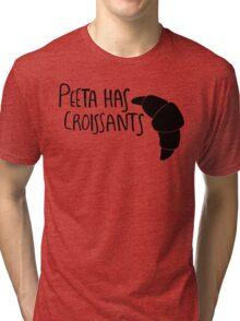 The Baker Has Croissants (Black Design) Tri-blend T-Shirt