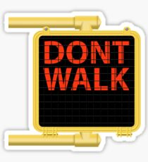 "New York Crosswalk Sign Don""t Walk Sticker"
