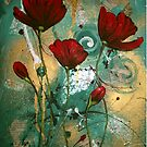 Red Jaded Poppies  by Cherie Roe Dirksen