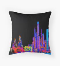 Neon jungle Throw Pillow