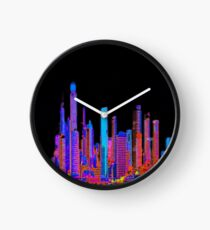 Neon jungle Clock