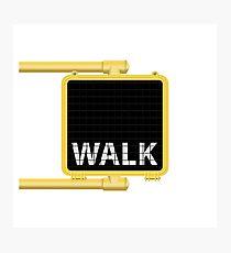 New York Crosswalk Sign Walk Photographic Print