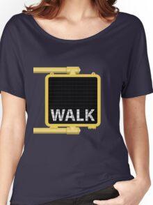 New York Crosswalk Sign Walk Women's Relaxed Fit T-Shirt