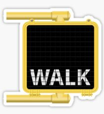 New York Crosswalk Sign Walk Sticker