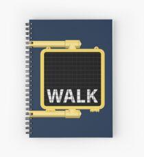 New York Crosswalk Sign Walk Spiral Notebook
