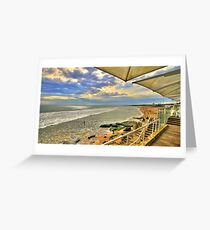 lunch view Greeting Card
