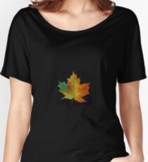 Red Maple Leaf Women's Relaxed Fit T-Shirt
