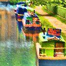 Barges at Hebden Bridge by Glen Allen