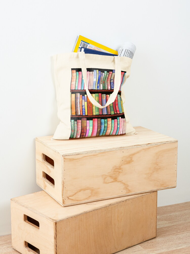 Alternate view of Bookworm Antique books Tote Bag