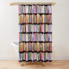 Bookworm Antique books Shower Curtain