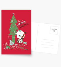 The cat did it  - Christmas card Postcards