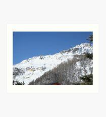 Snowy Mountain Val D'isere Art Print