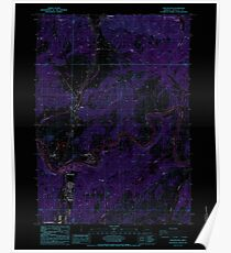 USGS Topo Map Oregon Winchester 282116 1987 24000 Inverted Poster