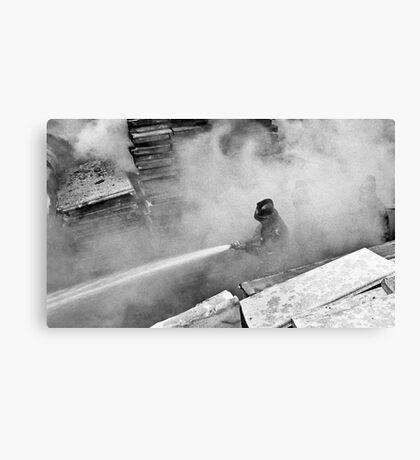 Smoke and Fire Canvas Print