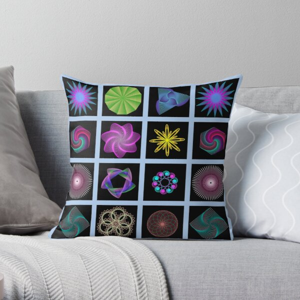 Beautiful colorful geometric shapes Throw Pillow