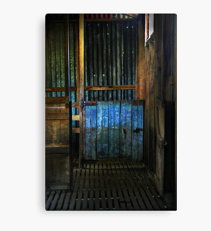 The old woolshed Canvas Print