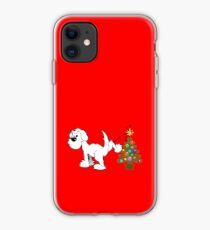 Merry Christmas love DOG iPhone Case