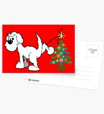 Merry Christmas love DOG Postcards