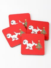 Merry Christmas love DOG Coasters