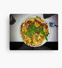 Pizza Prosciutto Con Formaggio Canvas Print