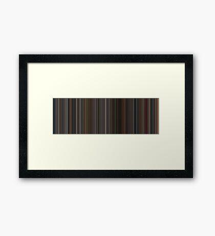 Moviebarcode: Black Swan (2010) [Simplified Colors] Framed Print