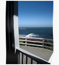 """View From the Front Porch at Old Lighthouse"" Poster"