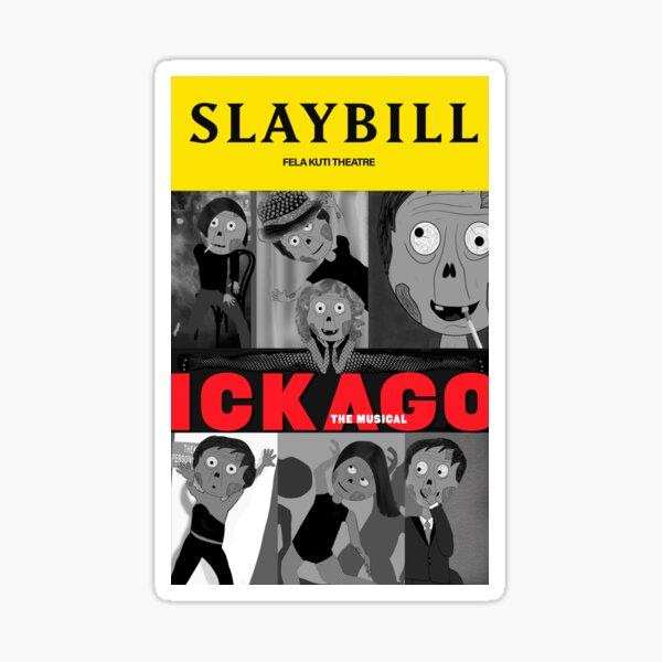 Broadway Zombie Ickago Slaybill Sticker