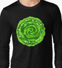 Portal Gun - Green Portal  Long Sleeve T-Shirt