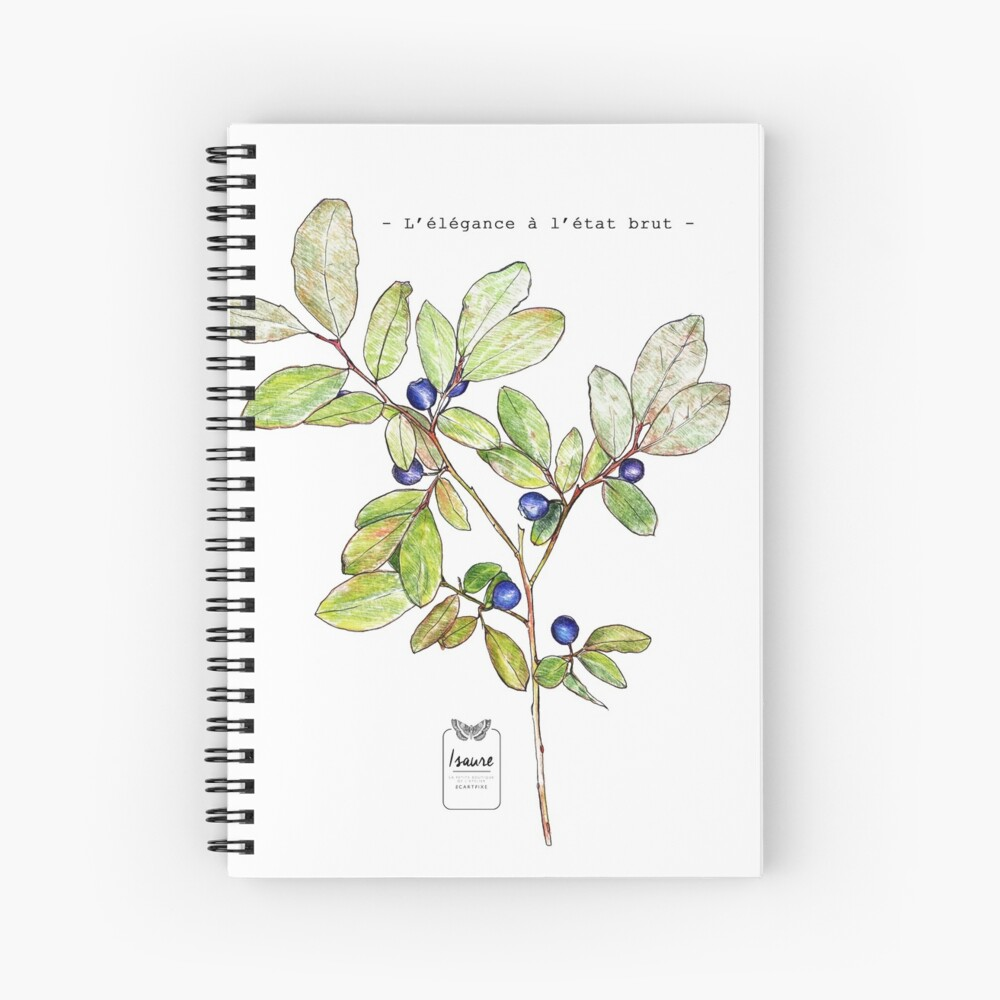 ELEGANCE IN THE RAW STATE Spiral Notebook