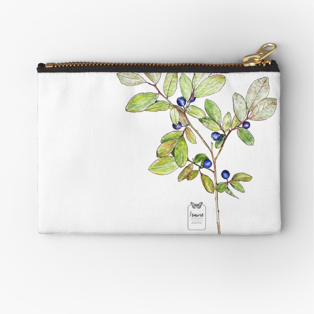 ELEGANCE IN THE RAW STATE Zipper Pouch