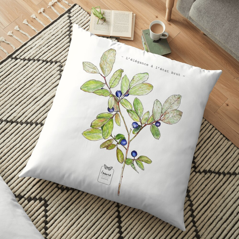 ELEGANCE IN THE RAW STATE Floor Pillow